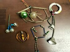 """Lot of Vintage glass beaded Christmas Ornament parts """"As Is"""""""
