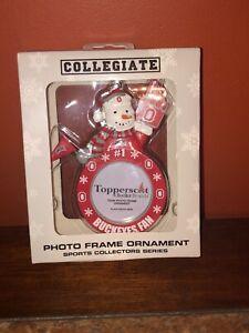 Ohio Stae Buckeyes Photo Frame Ornament by Topperscot Snowman Buckeyes Fan