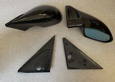 Black Manual M3 Style Mirrors & Base Plates fits BMW E36 2 Door Models