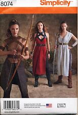 SIMPLICITY SEWING PATTERN 8074 MISSES 14-22 STAR WARS, ARCHER, WARRIOR COSTUMES