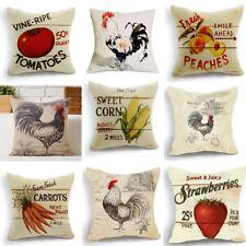 Retro Design Cushion Cover Pillow Case Strawberry Fruit farm  Home Decor  18''