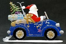 """ARTIST WILHELM SCHWEIZER GERMAN ZINNFIGUREN - Santa in Auto (4.75""""x 3"""")"""