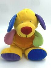 Ty Pluffies Pretty Puppy Dog Primary Colors Yellow Blue Orange Green Plush 2005