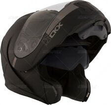 CKX MOTORCYCLE MATTE FLAT BLACK HELMET LARGER SIZES UP TO 4XL PLUS SIZE XXXXL 4X