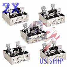 2X 2 PCS 50A 1000V Metal Case Single Phases Diode Bridge Rectifier KBPC5010