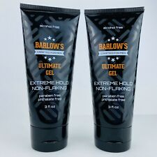 2-Pack Barlow's Ultimate Hair Gel Crafted For Men Extreme Hold Non-Flaking 3 oz