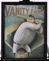 Babe Ruth Framed Vanity Fair Cover Baseball NY Yankees 1933