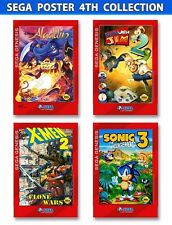 Sonic 3, Aladdin, Earth Worm Jim 2, X-Men  FoamBoard Posters (4)13x19inch
