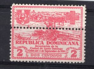 DOMINICAN REPUBLIC, MI # 237, HORIZONTAL PERFORATION CENTER, M NO GUM