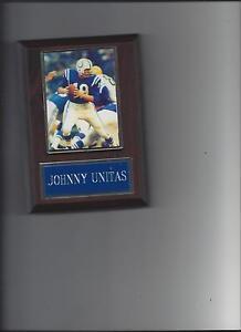 JOHNNY UNITAS PLAQUE BALTIMORE COLTS FOOTBALL NFL