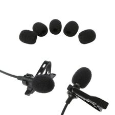 5Pcs Round Ball Lavalier Microphone Foam Windscreen Sponge Windshields Opening