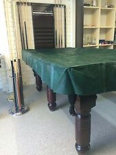Pool Snooker Billiard Table Cover Fitted Heavy Duty Vinyl 7 ft Foot Green