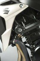 R&G Black Crash Protectors - Aero Style for Suzuki GSR750 2015