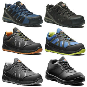 MENS DICKIES LEATHER ANKLE SAFETY BOOTS STEEL TOE CAP WORK HIKER SHOES TRAINERS