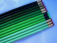 "12 Hexagon /""Dark Green/"" Personalized Pencils"