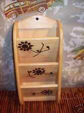 Letter Holder Flower Power Wood ooak Recipe Dragonfly Vintage Country Shabby