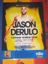 JASON DERULO - 2014  TATTOOS  AUSTRALIAN  TOUR  -  PROMO TOUR POSTER