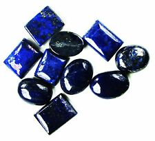 100 Ct/10 Pcs Noteworthy Natural Mixed Shape Gold Flakes Lapis Lazuli Gems Lot