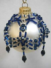 "PATTERN ONLY Beaded Christmas Ornament Cover Holiday Original ""Princess Drape"""