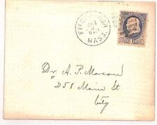 VV460 1870s USA CLASSIC 1c Local Rate *Fitchburgh Mass* Cover {samwells-covers}