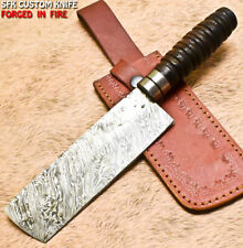 Sfk Handmade Damascus Steel Walnut Wood Hunting Clever Chopper Axe Knife