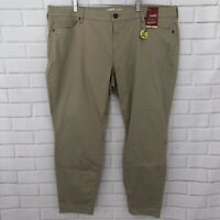 Arizona Size 22 Juniors Plus Schoolgirl Khaki Skinny Leg Pants Stretch NWT
