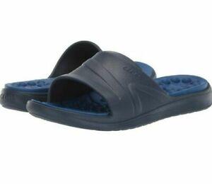 NWT Crocs MENS Reviva Slide Comfortable slip on SANDALS navy blue CHOOSE SIZE