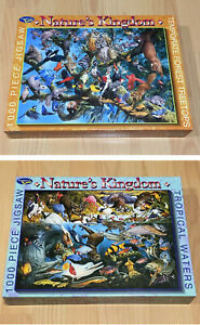 Set of 2 x Holdson Nature's Kingdom 1000 Piece Jigsaw Puzzles - Tropical/Forest