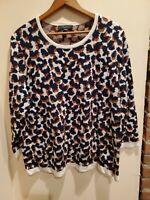 Ann Taylor Womens Navy Animal Print Sweater XL