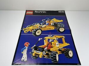 LEGO Vintage 8840-1 Rally Shock n' Roll Racer Technic 1990 INSTRUCTIONS ONLY