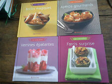 Lot de 4 livres de cuisine Farcis surprise Apéros gourmands Verrines épatantes