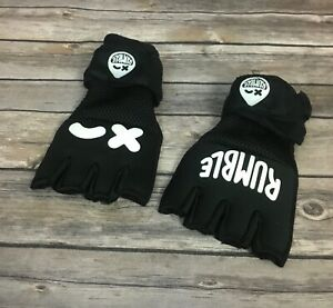 Rumble Black Boxing Gloves (Size: L/XL)