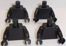 Lego noir torse x 4 pour figurine