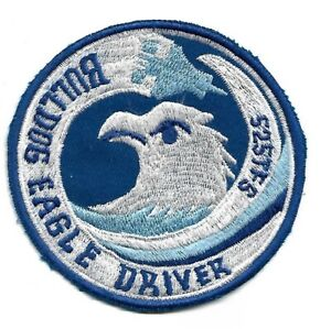 """USAF patch 525 Tactical Fighter Squadron """"Bulldogs"""" F-15 Eagle Driver Bitburg AB"""