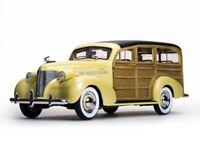 SUNSTAR 6170 CHEVROLET WOODY STATION WAGON diecast model Italian cream 1939 1:18