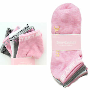 5 Pack Juicy Couture Socks No Show Sock Multipack Women's, Shoe Size 4-10