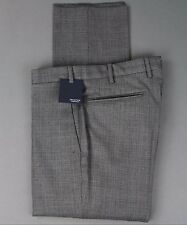 New Incotex Wool Flat Front Dress Pants Slim Size 38 (54 EU) NWT