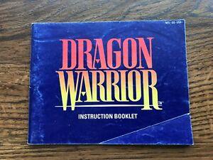 Dragon Warrior NES Nintendo Instruction Manual Only