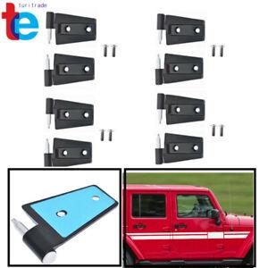 Replacement Door Hinges  For 2007-2017 Jeep Wrangler Unlimited JK Set 4 Doors