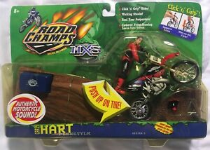 MXS Road Champs Carey Hart Freestyle Motocross Figure Honda CR250 Supercross NEW