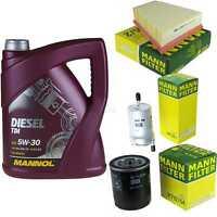 Motor-Öl 5L MANNOL Diesel TDI 5W-30+MANN-FILTER Filterpaket Skoda Fabia 6Y2 1.4