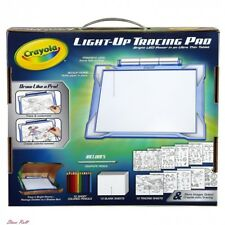 Arts And Crafts For Kids Crayola Light Up Tracing Pad Blue Coloring Board Gift