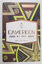 Starbucks Coffee Reserve Taster Card Mint - CAMEROON MT.OKU 2015