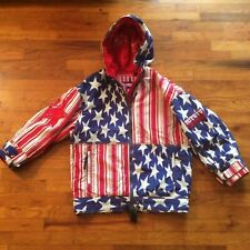 Vintage Phenix Ski Jacket Parka American Flag Very Good Condition size Measured
