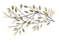 Wall Decor handcrafted metal art branch and leaves