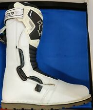 Hebo Tech Comp Trials Motorcycle Boots White