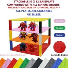 Large 32 x 32  BASEPLATE Brick Building Blocks Compatible Base plate STACKABLE