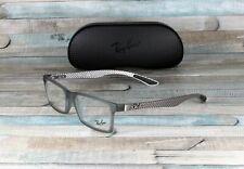 RAY BAN RX8901 5244 Demi Gloss Grey Demo Lens 53 mm Men's Eyeglasses