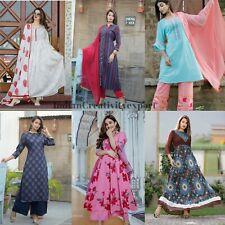 Wholesale Indian Rayon Kurtis for women Kurti set Kurti with Palazzo and Dupatta