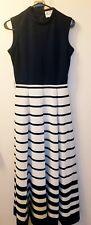 Vintage Butte Knit Navy White Stripes Retro Rare Pleated Skirt Sleeveless Top 10